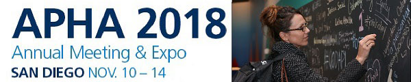APHA 2018 Annual Meeting & Expo San Diego Nov. 10-14 woman at chalkboard