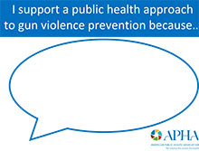 I support a public health approach to gun violence prevention because...