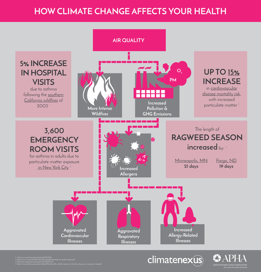 How Climate Affects Health Air Quality